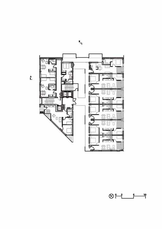 Planta - Mix жилой дом на 22 @ / Coll-Leclerc