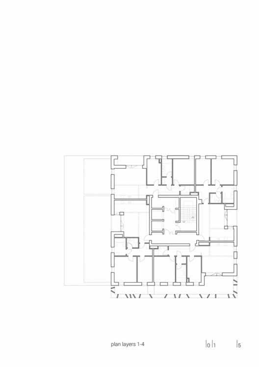 Planta - Habitação Social Cascina Merlata / B22