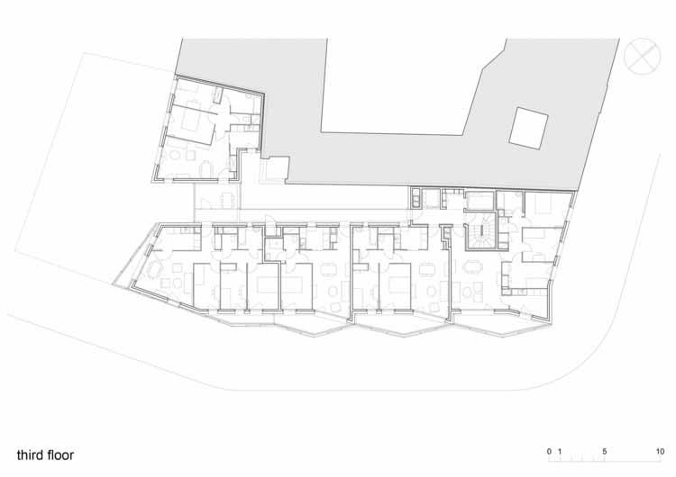 Planta - Habitação Social em Paris / Bigoni Mortemard
