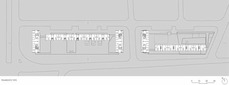 Планта - Conjunto Habitacional do Jardim Edite / MMBB Arquitetos + H + F Arquitetos