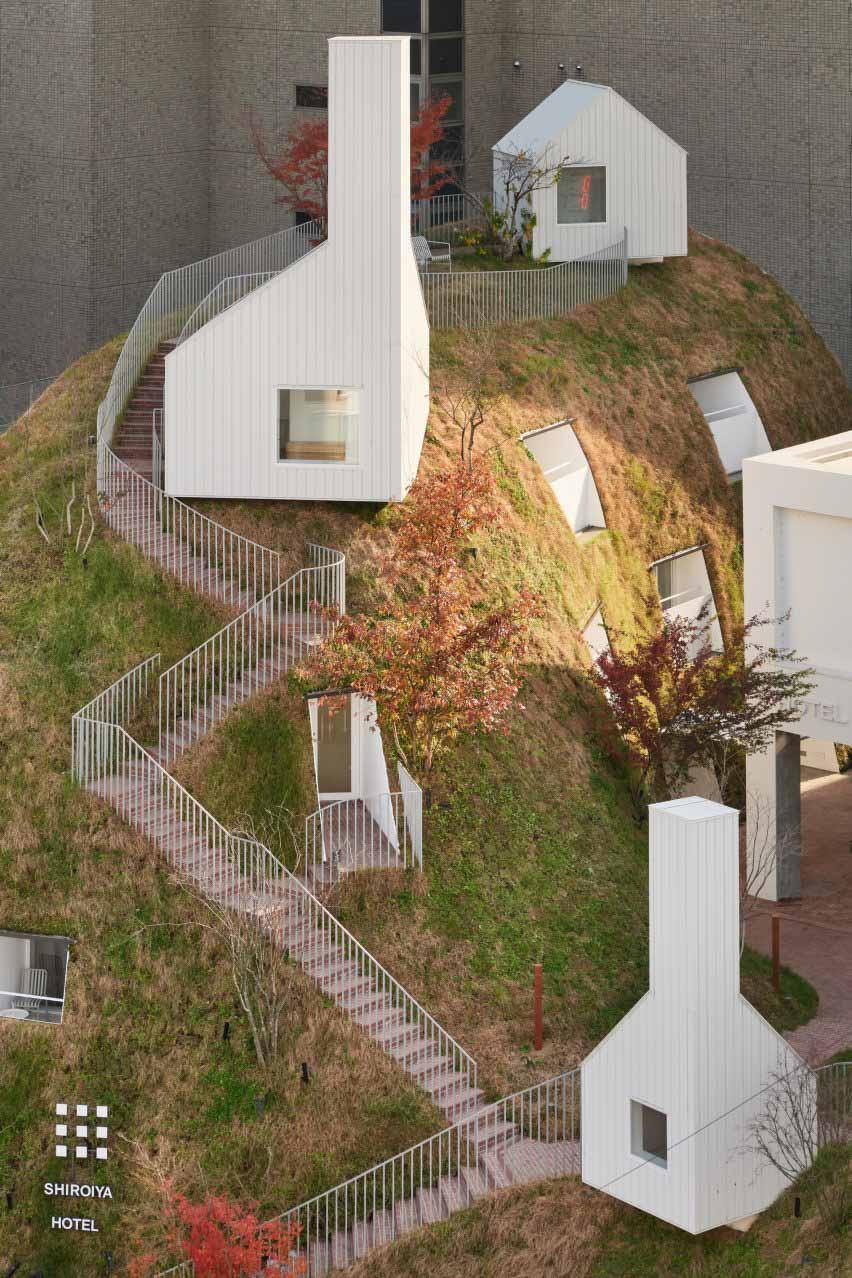 Холм травы в японском отеле