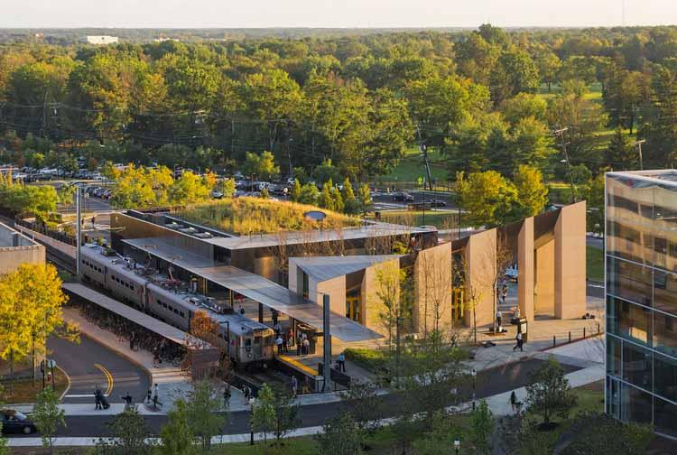 Транзитный зал и рынок Принстона / Студия Рика Джоя. Изображение © Джефф Голдберг / ESTO