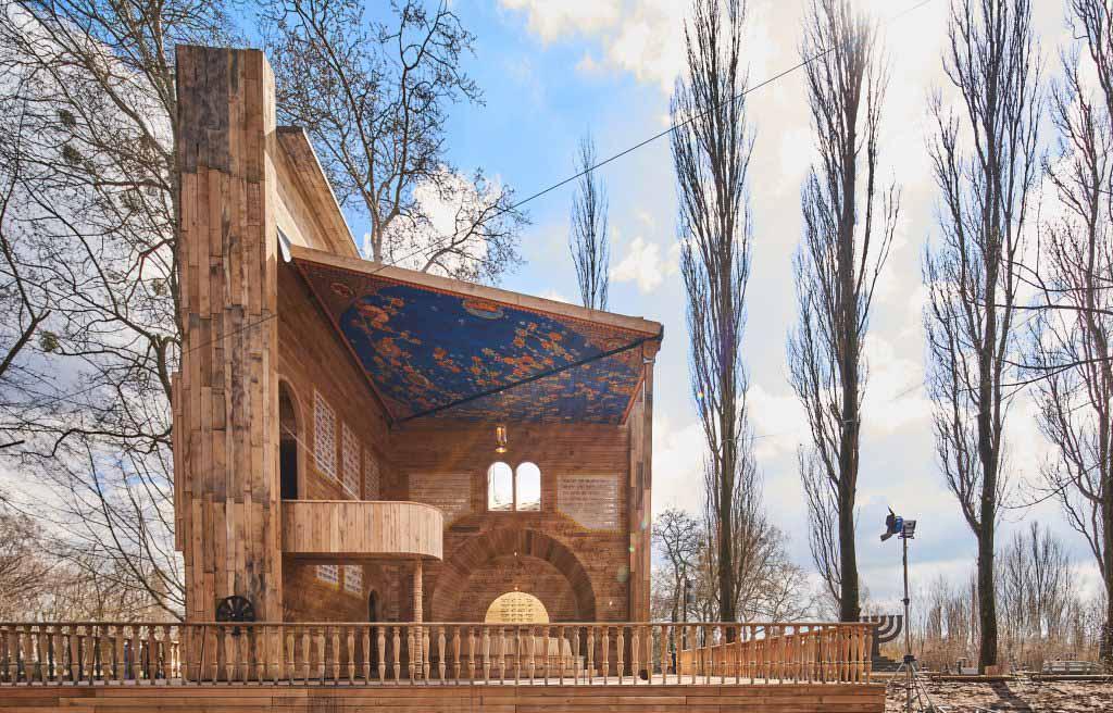 Manuel Herz Architects создает синагогу, которая открывается как всплывающая книга