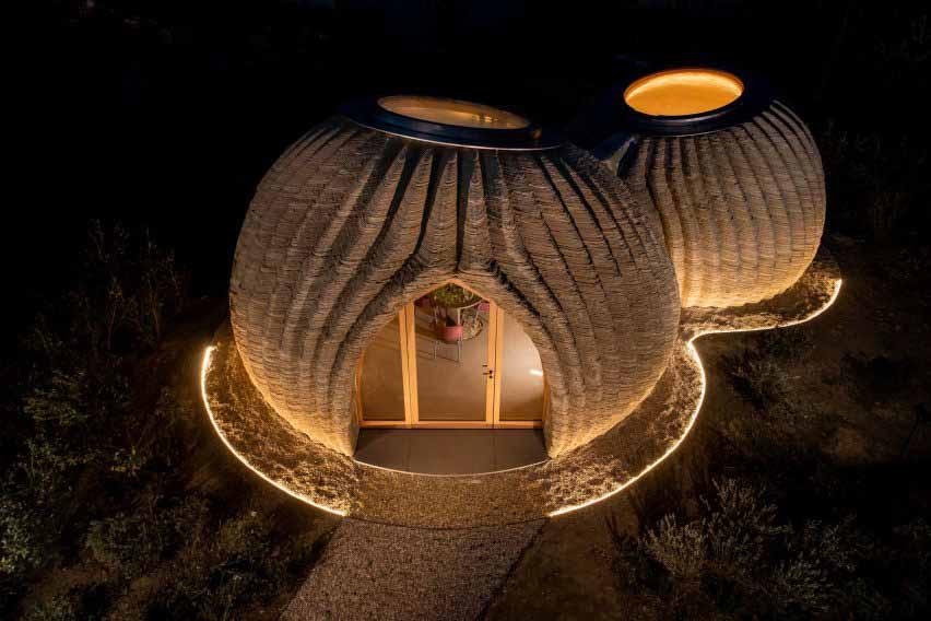 Напечатанные на 3D-принтере прототипы оснащены световым люком от Mario Cucinella Architects и Wasp.