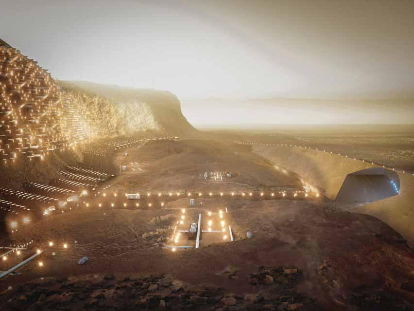 Марсовский город Нюва будет построен в скале
