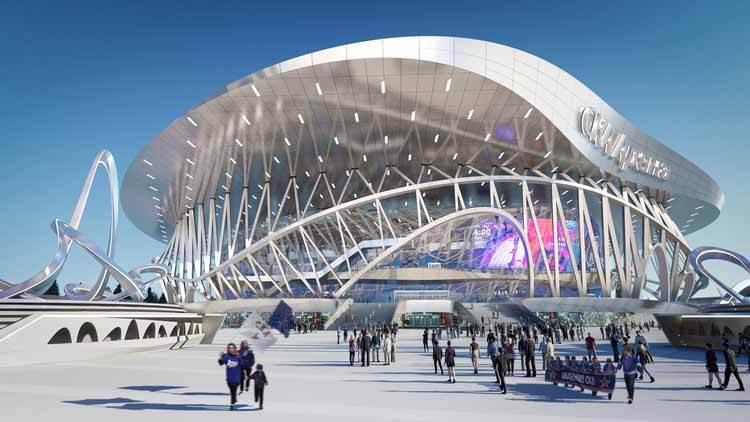 Coop Himmelb (l) au, чтобы построить арену и парк CKA в стиле конструктивизма, © CoopHimmelb (l) au
