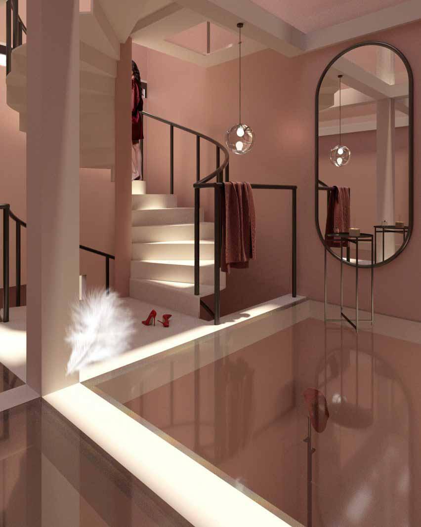 Пример использования - Вертикальный стеклянный дом от Jinyu Ma