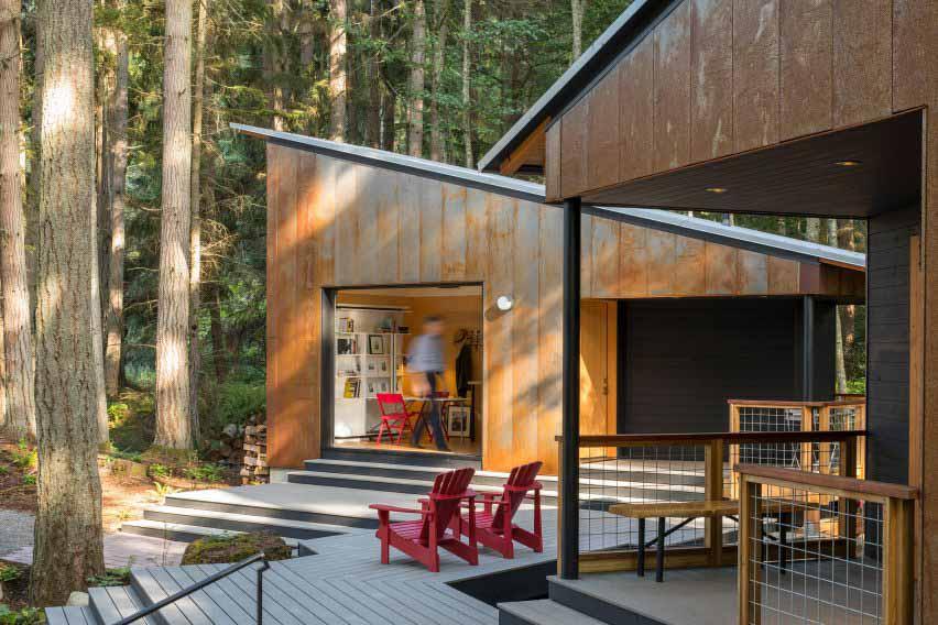 Кортеновская сталь облицовывает Маленький Дом / Большой Сарай в Вашингтоне, Дэвид Ван Гален