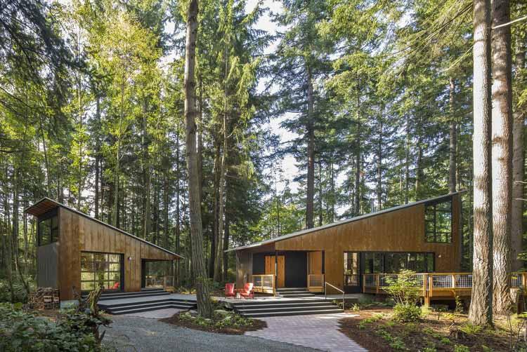 Маленький домик Большой сарай / Архитектура Дэвида Ван Галена, © Lara Swimmer