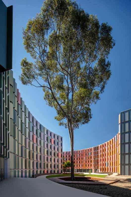Жилье для студентов Университета Ла Троб / Архитекторы Джексона Клементса Берроуза, © Джон Голлингс, Питер Кларк