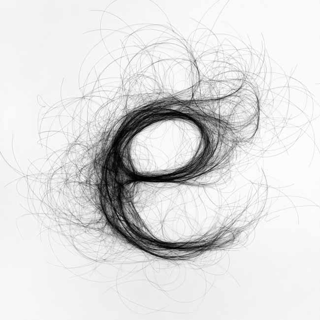 Моник Гуссенс использовала волосы в своих проектах