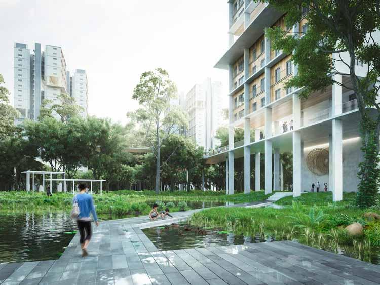 Железнодорожный коридор. Изображение © MKPL Architects Pte Ltd