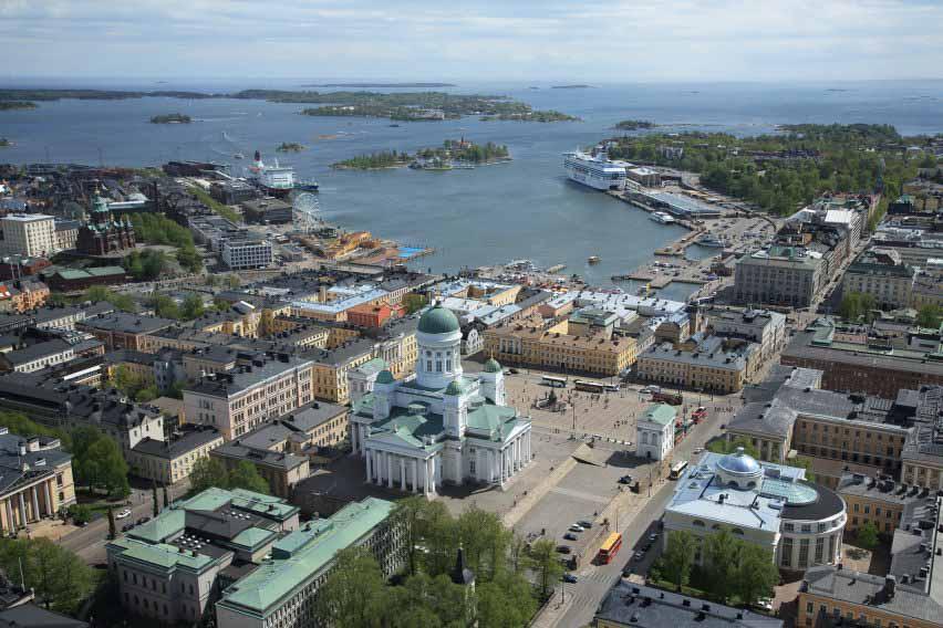 Вид на южную гавань Хельсинки