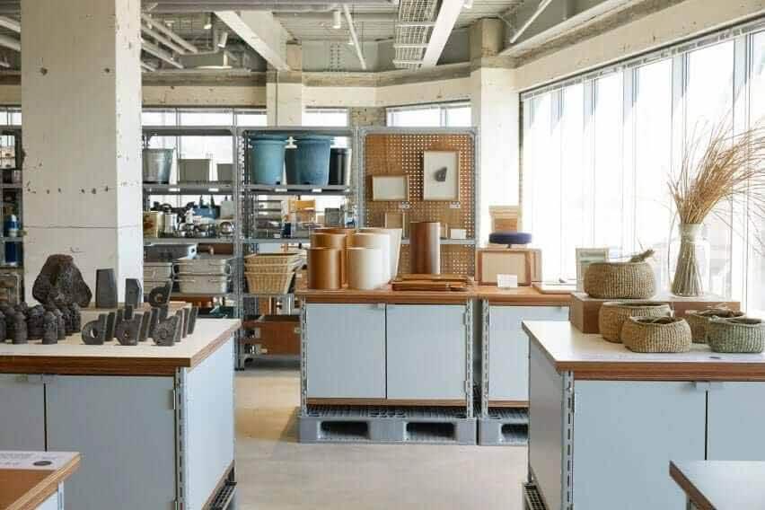 Объекты размещаются на верхних ящиках в виде столов.