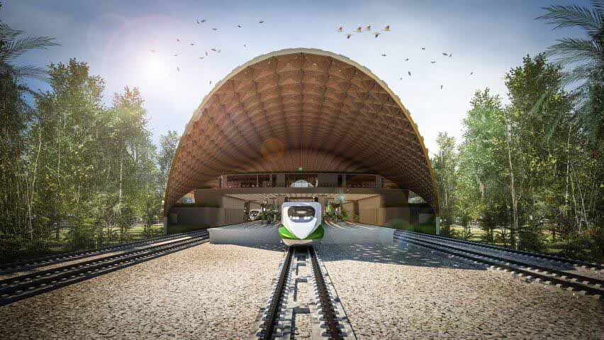Изогнутая крыша над железнодорожным вокзалом планируется в Мексике