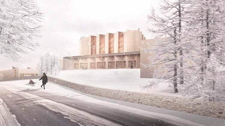 Хеннинг Ларсен проектирует новую церковь в Хёйвангене, Дания, первую церковь, построенную в приходе Сканнерборг за более чем 500 лет, любезно предоставлено Хеннингом Ларсеном