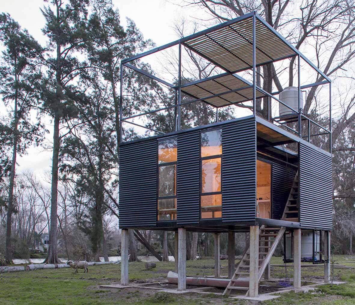 Металлические дома в Аргентине: 10 проектов с экстерьером из листового металла