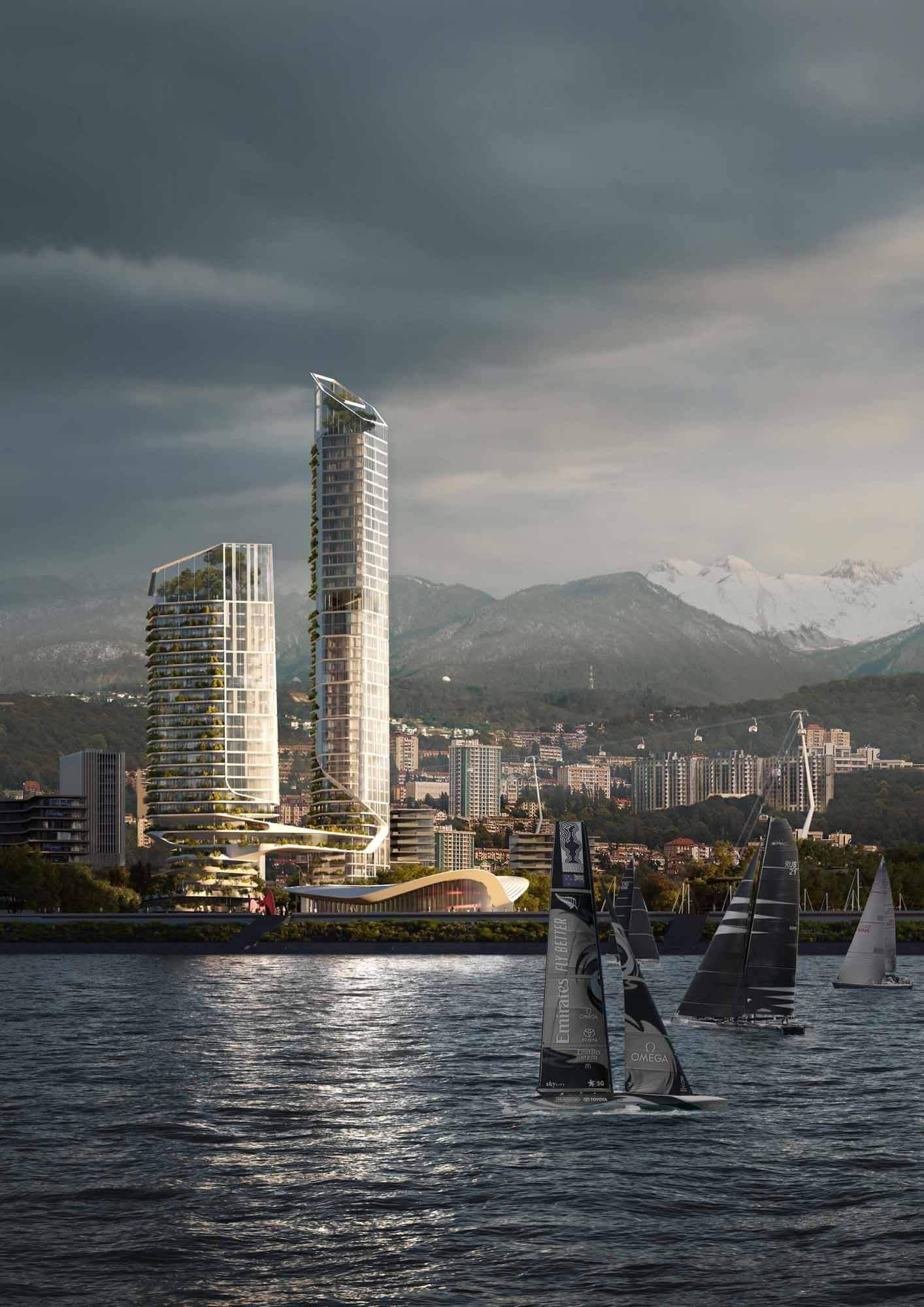 Генеральный план UNStudio превращает набережную Сочи в инклюзивный район и круглогодичное направление