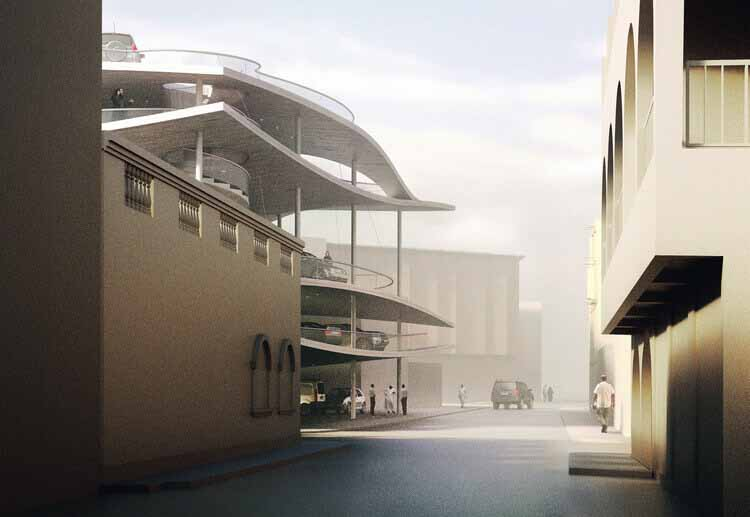 Кристиан Керез проектирует структуру парковки в Бахрейне в рамках проекта Pearl Path, любезно предоставлено Кристианом Керезом