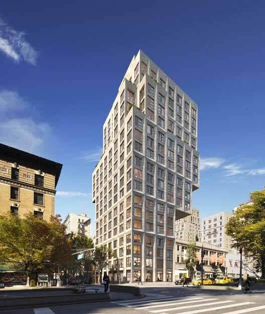 ODA проектирует самый большой жилой консоль в Нью-Йорке на Манхэттене, © ODA