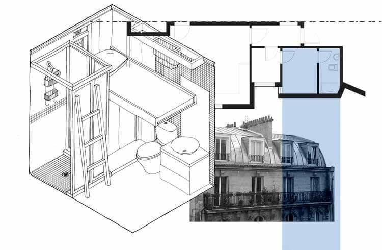 От скрытых подсобных помещений до складских помещений, иностранных домашних работников и эволюция их жизненного пространства, ©