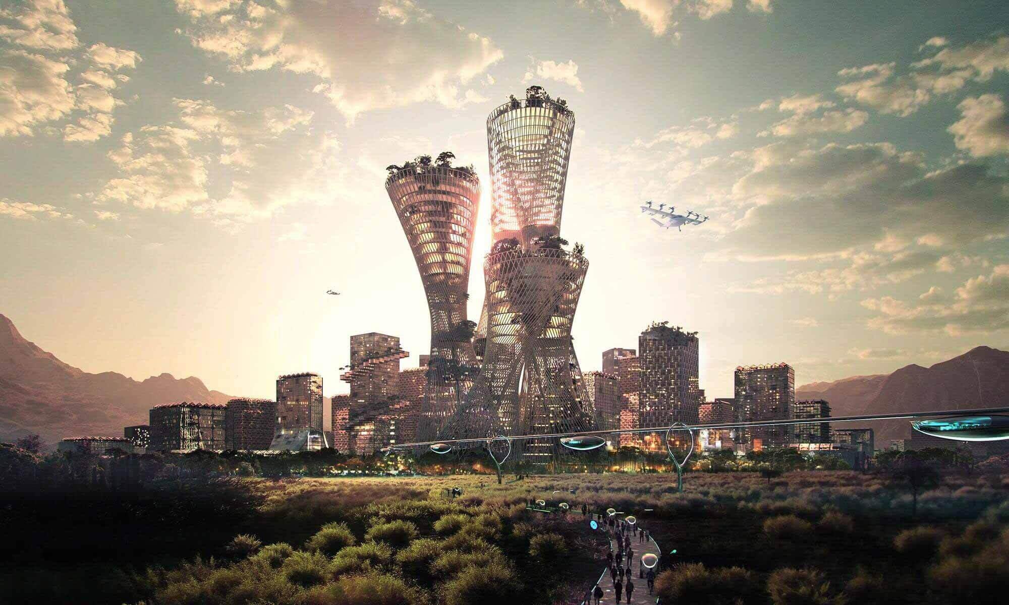 BIG представляет масштабный генеральный план, цель которого — стать самым устойчивым городом в мире