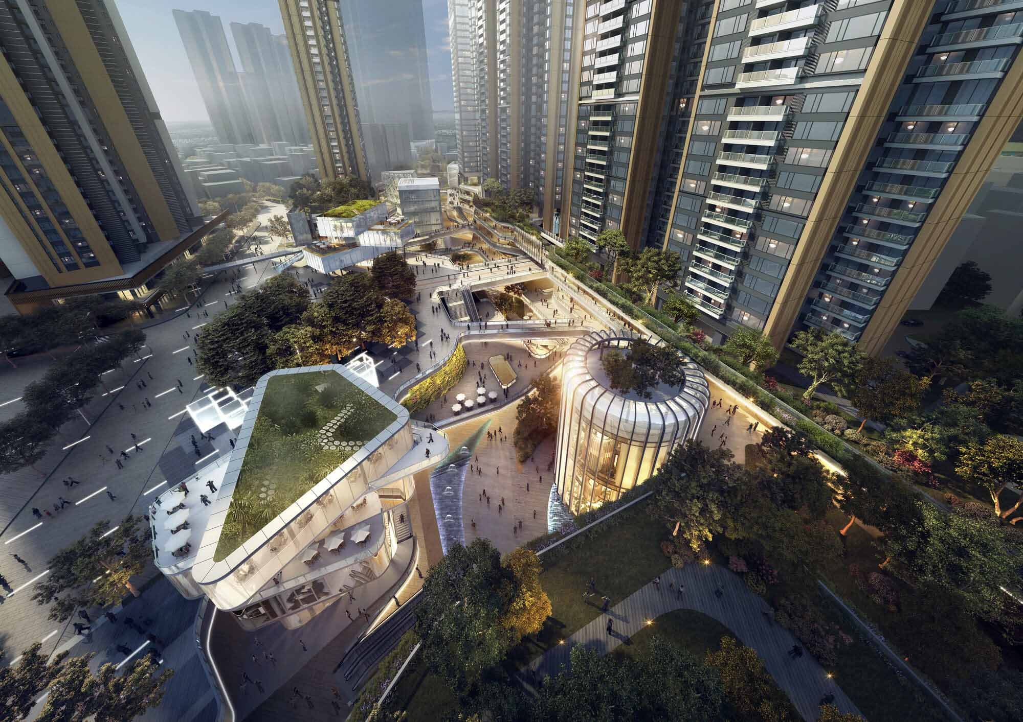 Aedas раскрывает данные о многоцелевой городской застройке в Шэньчжэне