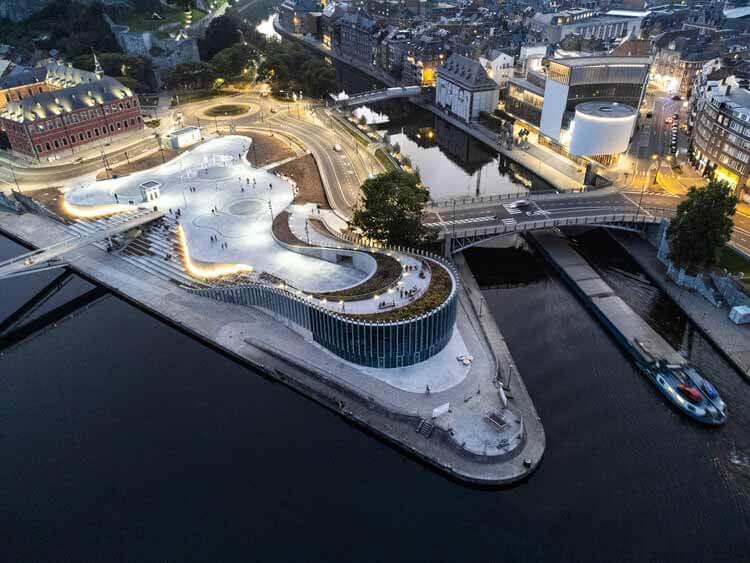 3XN завершает строительство выставочного пространства органической формы в Бельгии, © Phillipe Piraux