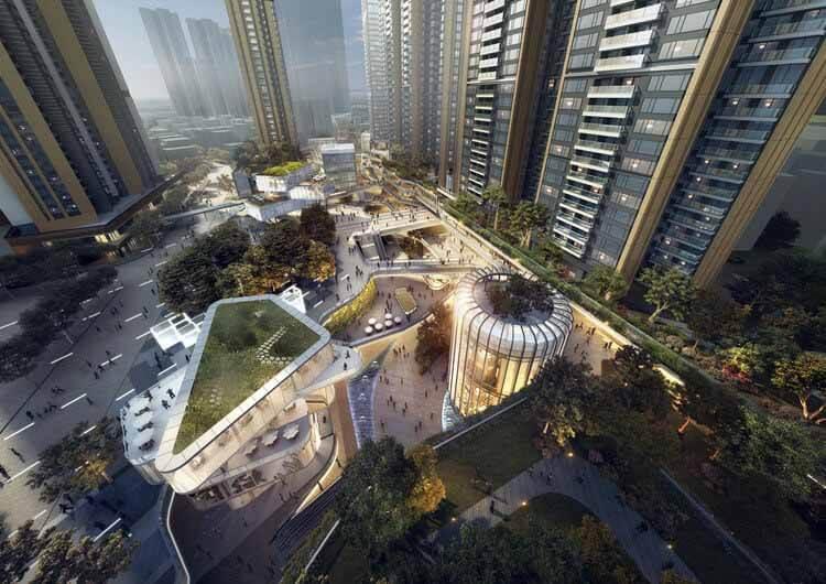 Aedas раскрывает данные о многоцелевой городской застройке в Шэньчжэне, любезно предоставлено Aedas