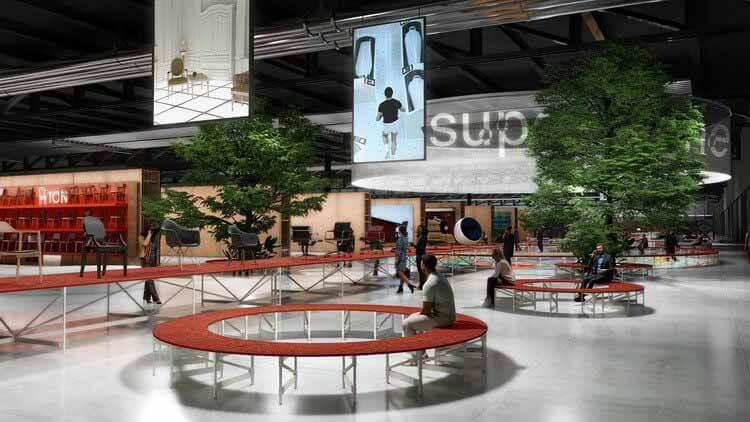 Архитектурные интервенции на выставке Salone del Mobile 2021 года, предоставлено Salone del Mobile
