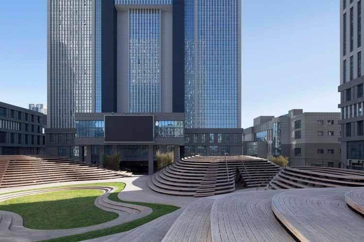 Бамбуковый холм - Тяньцзинь Vision Hill Plaza / Origin Architect, верхнее пространство.  Изображение © Чжи Ся