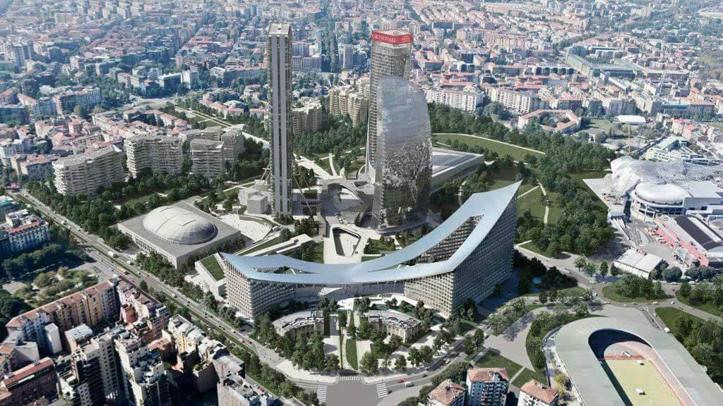БОЛЬШИЕ звезды работают над CityWave, объединяющим миланские башни Хадид и Либескинд