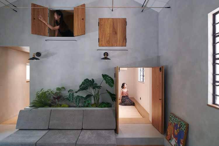 Yongjia Road Youth Shared Space Design / Greyspace Architecture Design Studio, Сцена из гостиной.  Изображение © Хао Чен