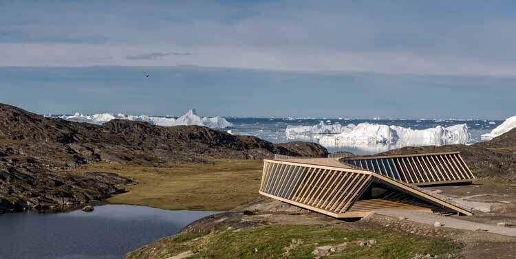 Dorte Mandrup Arkitekter представляет Центр исследований климата и посетителей в Гренландии, любезно предоставлено Dorte Mandrup Arkitekter