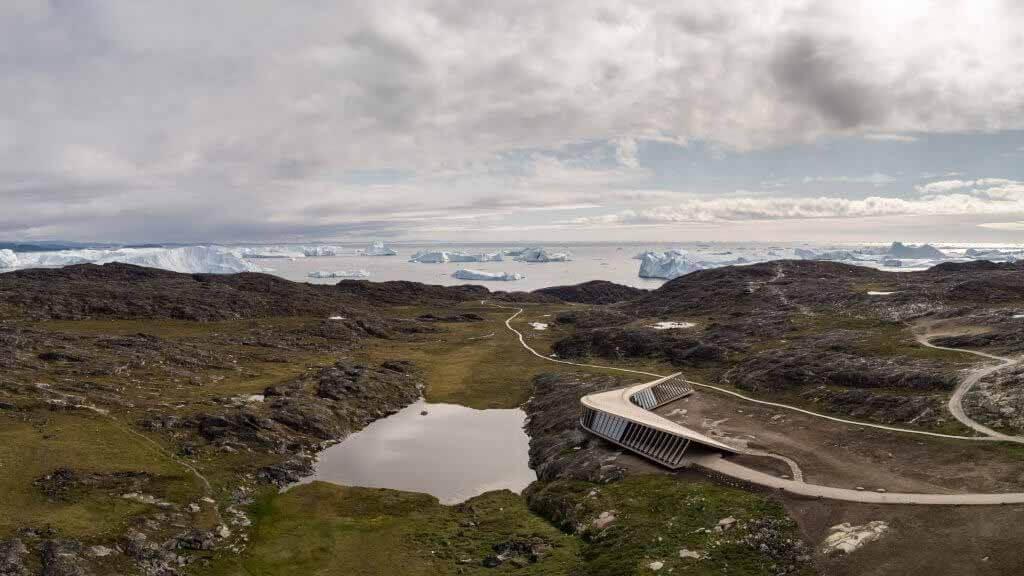 Дорте Мандруп завершает строительство Центра климатических исследований Icefjord в Гренландии