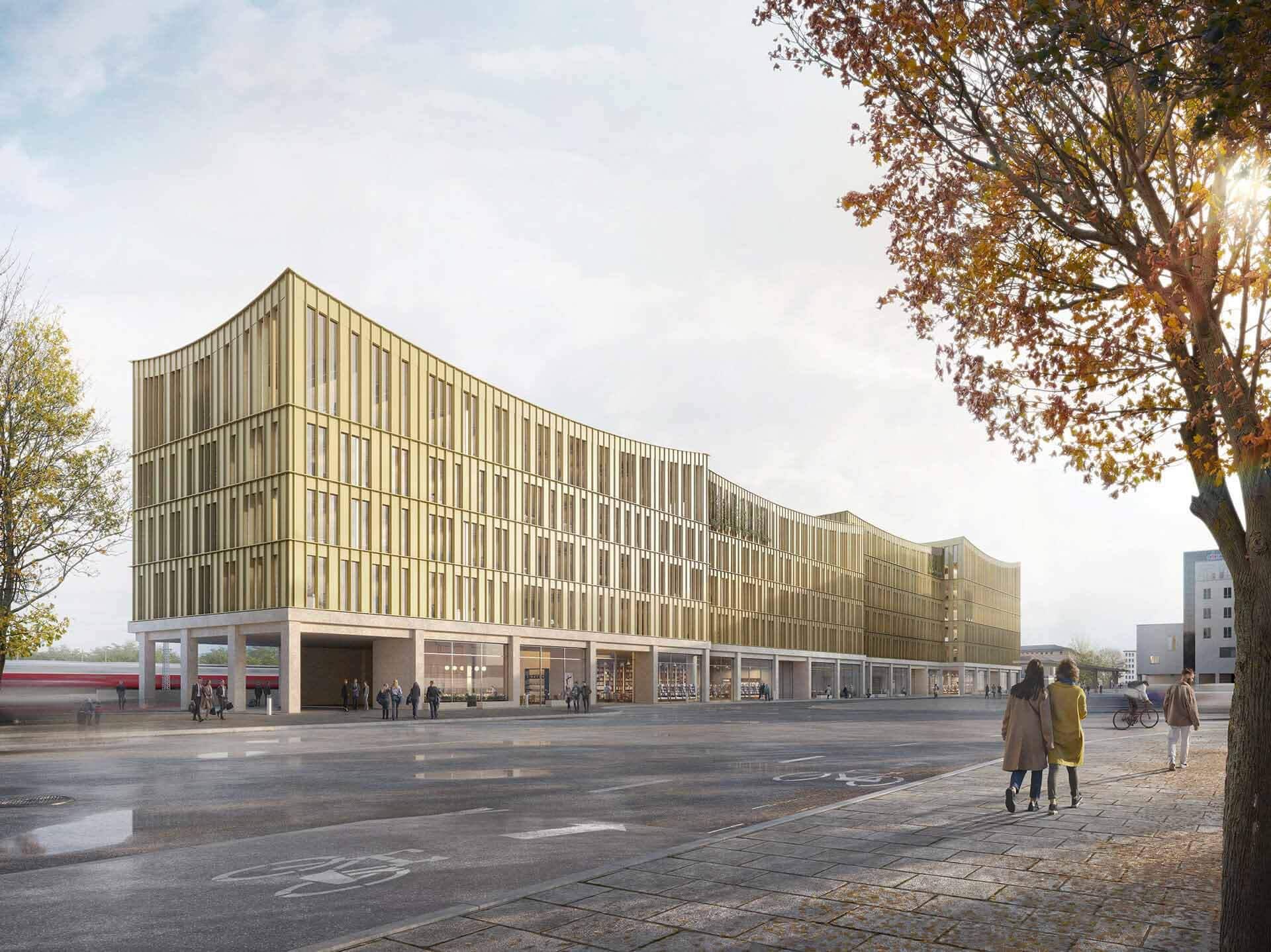 Хеннинг Ларсен проектирует офисное здание в третьем старейшем городе Германии