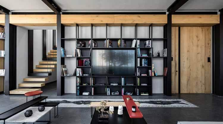 Как далеко должен быть диван от телевизора ?, апартаменты PH-13 / Atelier L'inconnu;  Бейрут, Либано.  Изображение © Иева Саударгайте