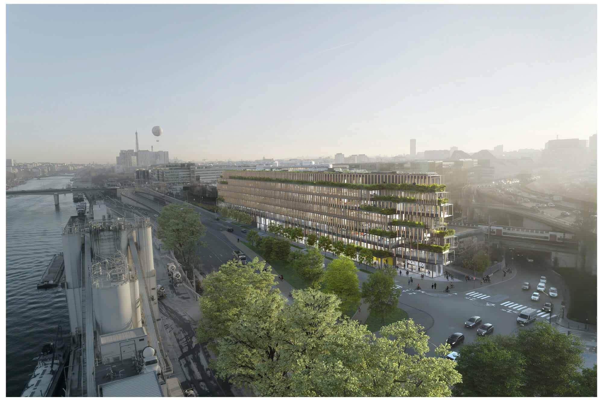 Kengo Kuma возродит заброшенный объект в Париже