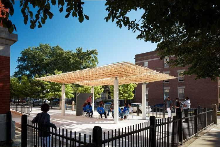 Компания SOM изучает методы строительства из древесины будущего на биеннале в Чикаго в 2021 году, © Кендалл МакКогерти © Hall + Merrick Photographers