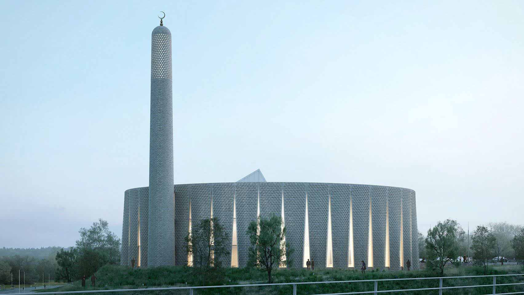 Лука Пойан Формс проектирует мечеть из декоративного кирпича для Престона