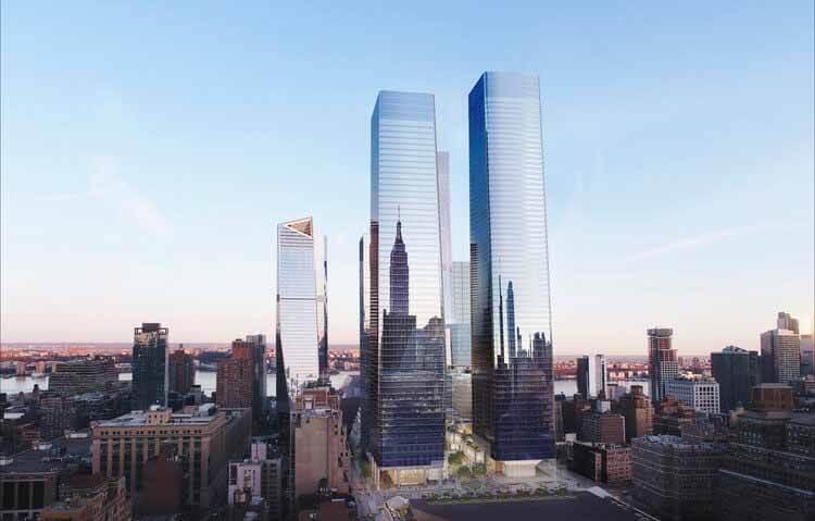 Многофункциональный комплекс SOM в Западном Манхэттене открыт для публики, © SOM    Miller Hare Limited