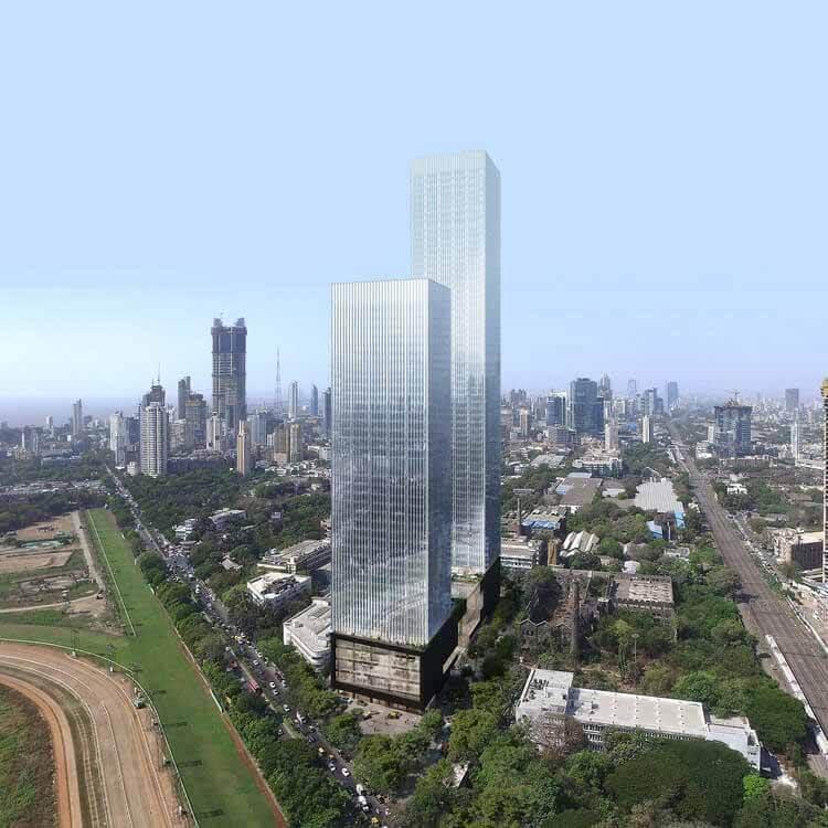 Началось строительство Prestige Liberty Towers OMA / Iyad Alsaka, многофункционального комплекса в Мумбаи, Индия, любезно предоставлено OMA
