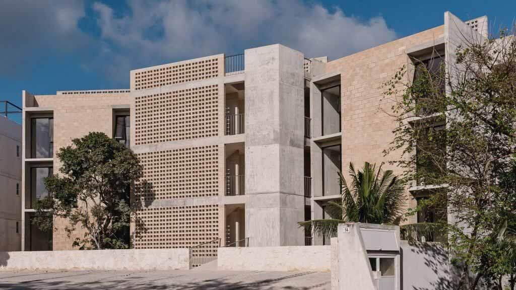 Рипария создает бетонное здание Коконут на полуострове Юкатан