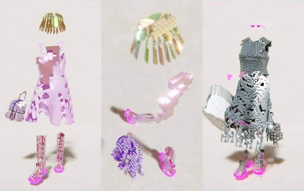 Санта Купча создает пиксельную цифровую линию одежды Decrypted Garments