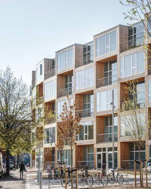 Сборные конструкции могут сделать жилищное строительство более доступным, Casas para todos - Dortheavej Residence / Bjarke Ingels Group.  Изображение © Rasmus Hjortshøj