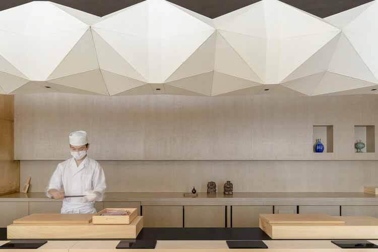 Shoku-tei Sushi / NATURE TIMES ART DESIGN, © Фэн Шао