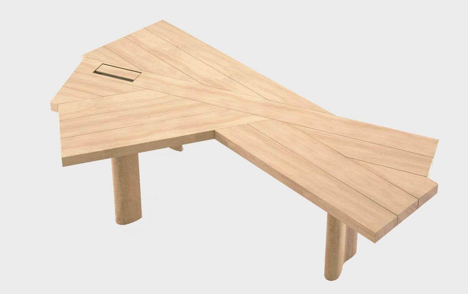 Стол Ventaglio от Шарлотты Перриан для итальянского мебельного бренда Cassina