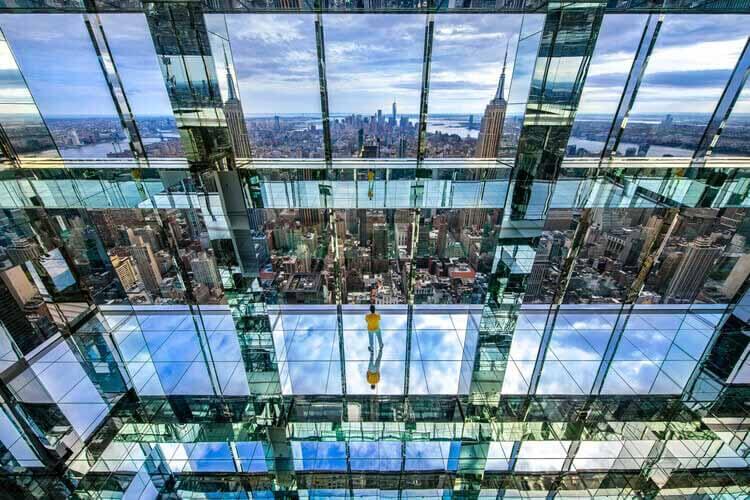 САММИТ One Vanderbilt - новейшая смотровая площадка из стекла в Нью-Йорке, предоставлено One Vanderbilt и KPF