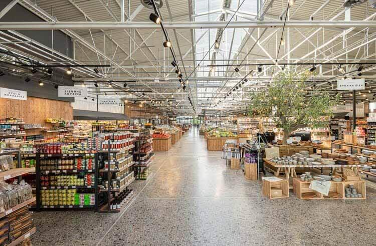 Супермаркет Ergon Agora East / Проект Urban Soul, © Кимберли Пауэлл