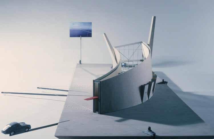 Виртуальный тур по незастроенному медленному дому Диллера + Скофидио, модель медленного дома.  Изображение предоставлено Стюартом Хиксом